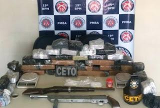 Polícias localiza maconha em Jequié