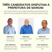 TRÊS CANDIDATOS DISPUTAM A PREFEITURA DE MARUIM