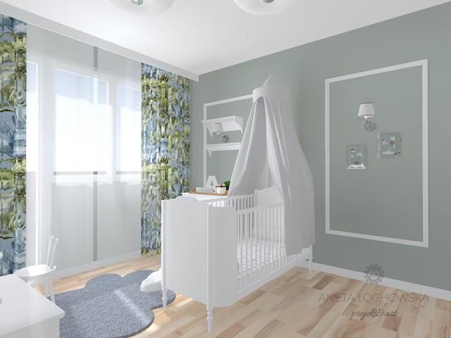 Pokój niemowlęcia w neutralnych kolorach - meble Bellamy Good Night
