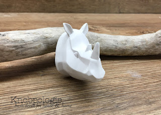 White or Custom Color Origami Style Rhino Knob - Abstract Resin Rhinoceros Head Knob - Safari Animal Nursery Drawer Pull unisex neutral boy girl zoo jungle