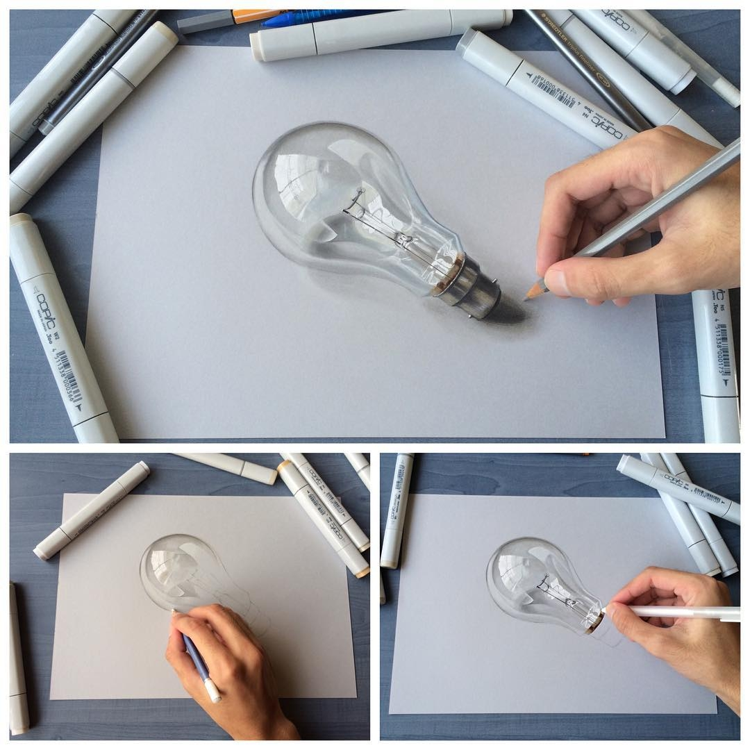 10-Light-Bulb-Sushant-S-Rane-Constructing-3D-Drawings-one-Section-at-the-Time-www-designstack-co