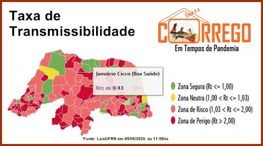Boa Saúde é o município com a menor taxa de transmissibilidade do RN