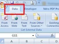 Menampilkan Tab Data Saja Pada Ribbon Excel - Custom UI Editor