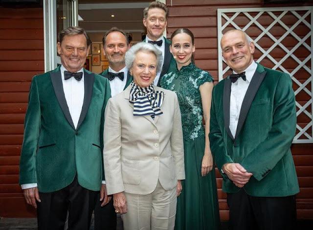 Princess Benedikte met with Ulf Pilgaard and actors Niels Olsen, Merete Mærkedahl, Henrik Lykkegaard and Niels Ellegaard