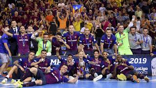 FÚTBOL SALA - Liga Nacional masculina 2018/2019: El Barça rompe la hegemonía del Inter con su cuarta liga y el triplete en la temporada