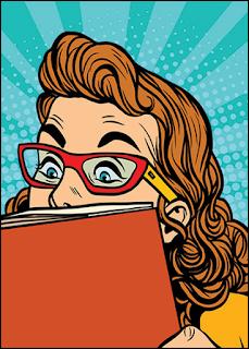 Woman Reading Comics
