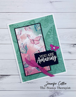 Butterfly Brilliance Bundle by Stampin' Up!.  Also uses the You Are Amazing stamp set.  #StampinUp #StampTherapist #ButterflyBrilliance