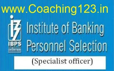 IBPS SO (Specialist officer) Previous Year Question Paper - Solved question answers