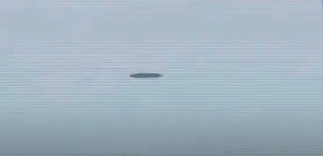 Image of the UFO over the Mexican airport when the president was flying there.
