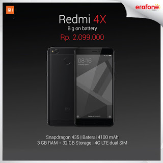 Harga Xiaomi Redmi 4X 32 GB Android RAM 3 GB