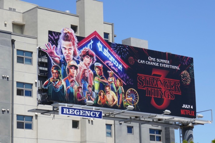 Stranger Things 3 extension cut-out billboard