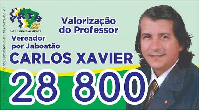 Para Vereador por Jaboatão Carlos Xavier 28.800