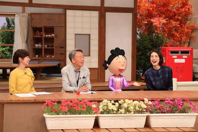 Sazae-san Menjadi Host di Program Tv Pertamanya
