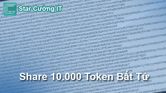 Share 10.000 Token bất tử cho anh em marketing facecbook