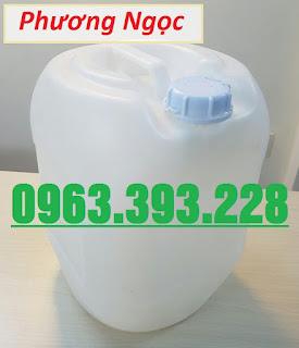 Can nhựa 20L vuông tròn, can nhựa đựng hóa chất, can màu trắng 20L 78994e56093bee65b72a