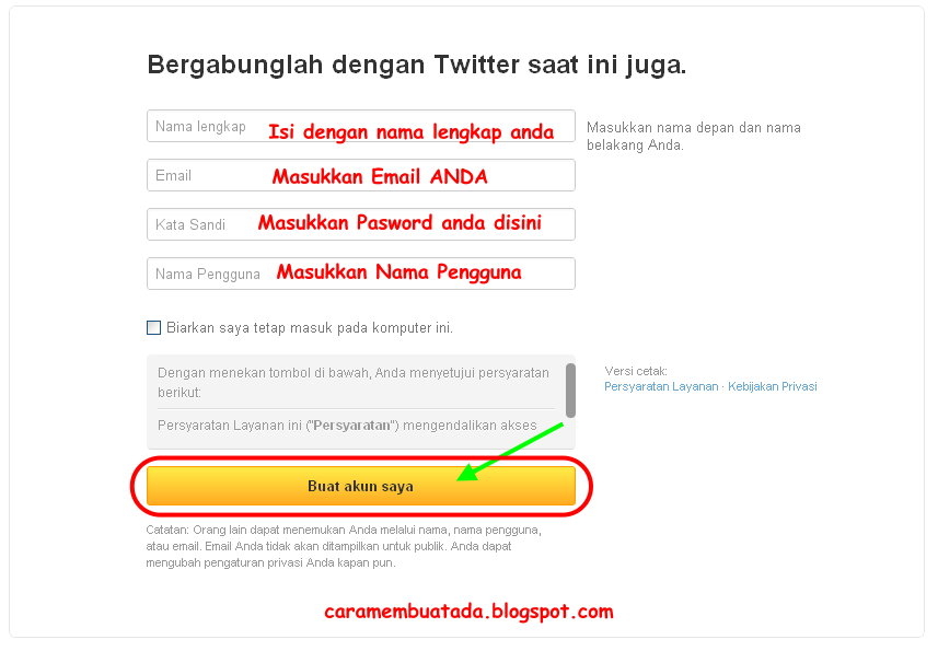 Form Twitter Indonesia