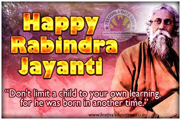 Rabindranath Tagore Jayanti Wallpaper Free Download