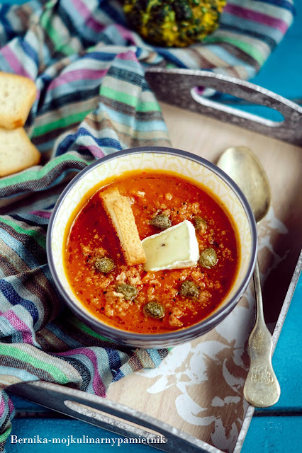 zupa, pomidory, obiad, dynia, bernika, kapary, kulinarny pamietnik