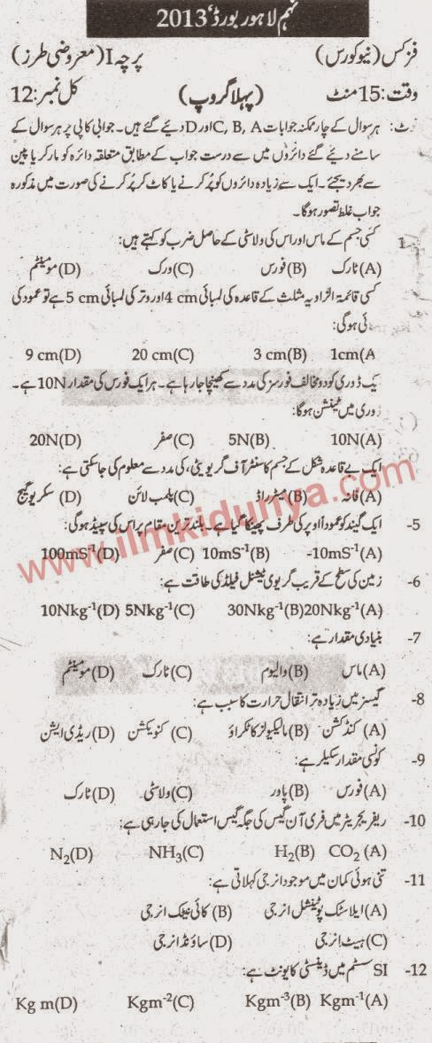 Past Paper,Old Solved Guess Papers,Matric,FA,Inter,BA,MA