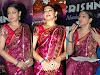 Shobana Hot Navel Through Saree Photos