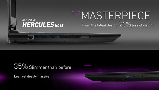"Xenom Hercules HC15S-DL23 - 15.6"" - Intel Core i7 - 16 GBRAM-Hitam"