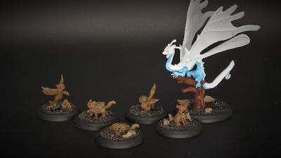 Mjowls and Faery Dragon (WIP)