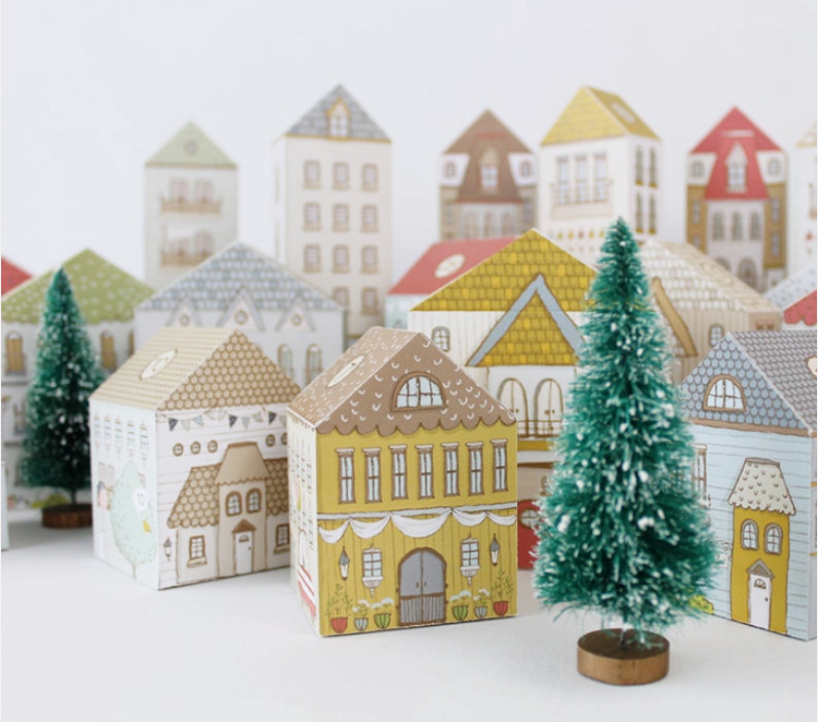 printable christmas village advent