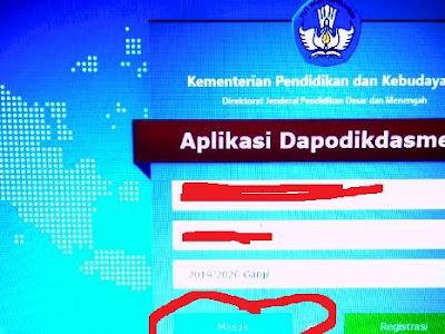 Solusi Dapodik, Tidak Bisa Masuk Keterangannya Link Password Salah