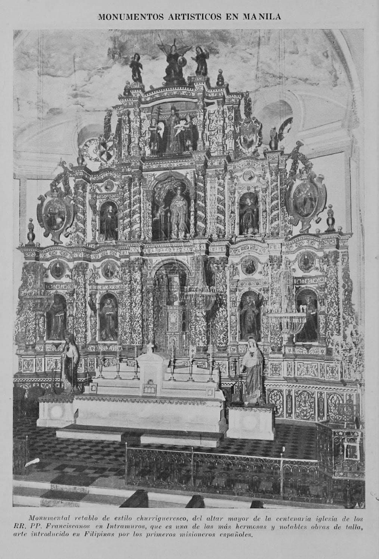 The churrigueresque main retablo