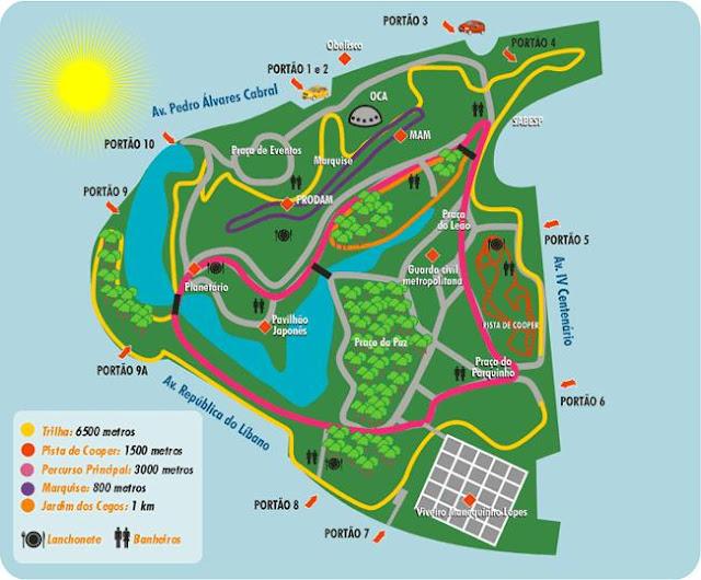 Mapa do Parque Ibirapuera