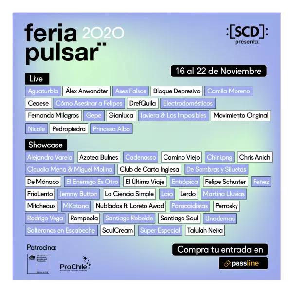 Feria Pulsar suma 35 showcases y más de 50 presentaciones en su versión 2020