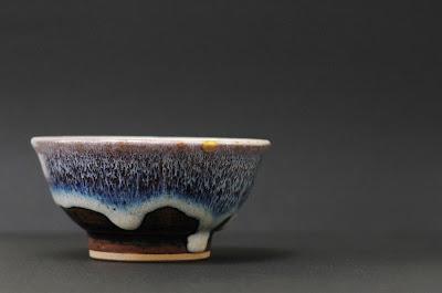 Kintsugi pottery blue