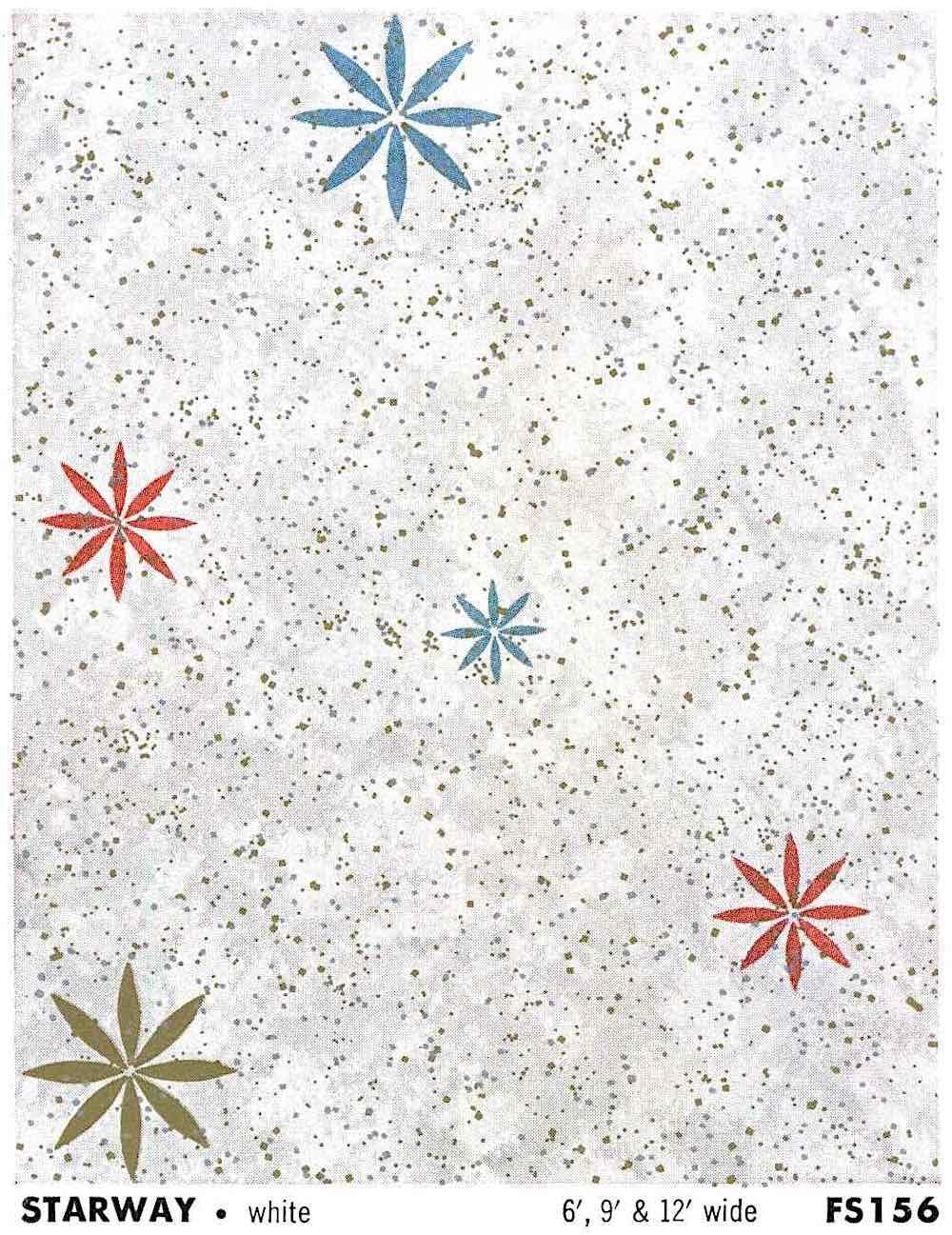 1960 linoleum with starbursts