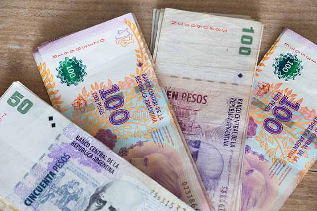 Pesos argentinos em El Calafate