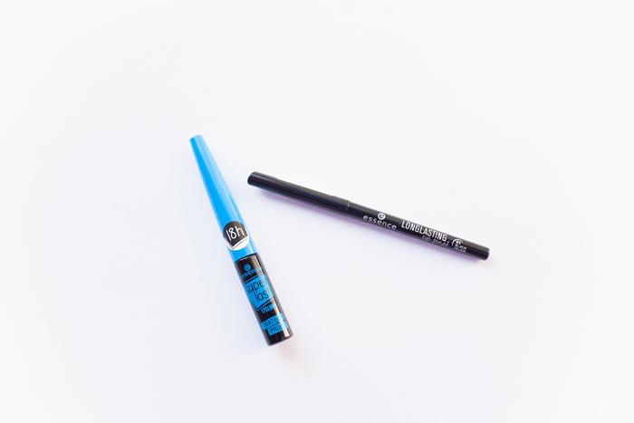essence super last waterproof eyeliner and long lasting eye pencil