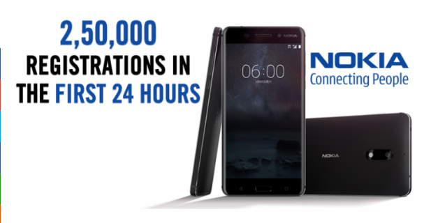 Nokia 6 is breaking all records! Obtains 2,50,000 registrations in 1 day