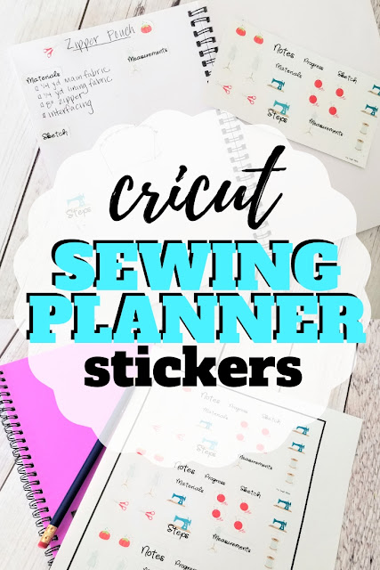 Learn how to make stickers on Cricut with this easy tutorial making diy planner stickers for sewing project plans.