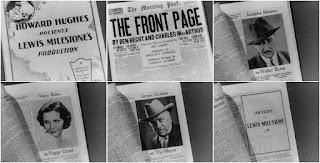 Un gran reportaje 1931 » The Front Page » Secuencias