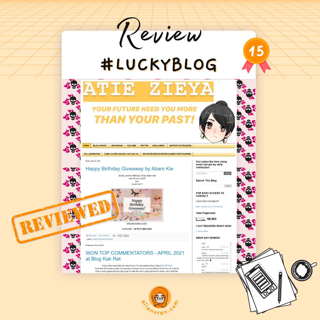Review blog Atie Zieya