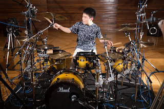 Soopy on the Reference series drums by Pearl
