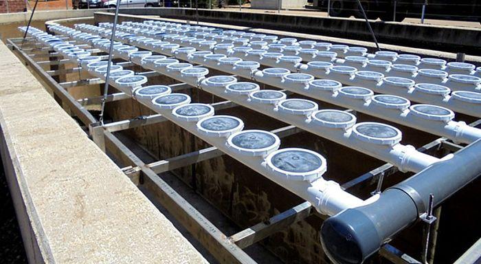 Parrilla de difusores de aire para tanque de igualación