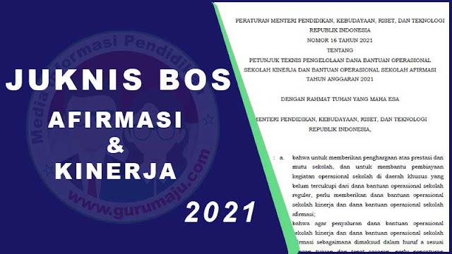 Juknis BOS AFIRMASI dan KINERJA Tahun 2021