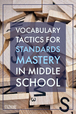 Use vocabulary to build a strong knowledge base and deeper understanding to help middle school students master standards!