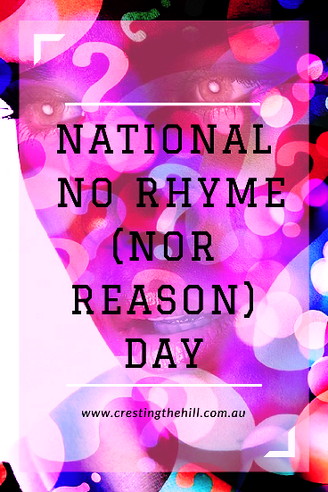 September 1st is National No Rhyme Nor Reason Day - it's a great start to September on the blog where anything goes!