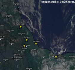 Lunes con periodos de sol parcial en todo el estado de Veracruz