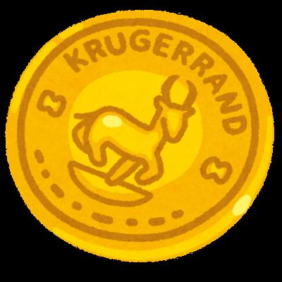 クルーガーランド金貨のイラスト