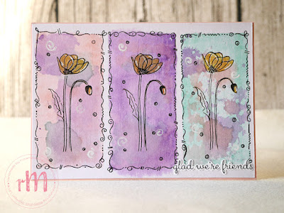 Stampin' Up! rosa Mädchen Kulmbach: Doodlekarte mit Fable Friends und Poppy Parade