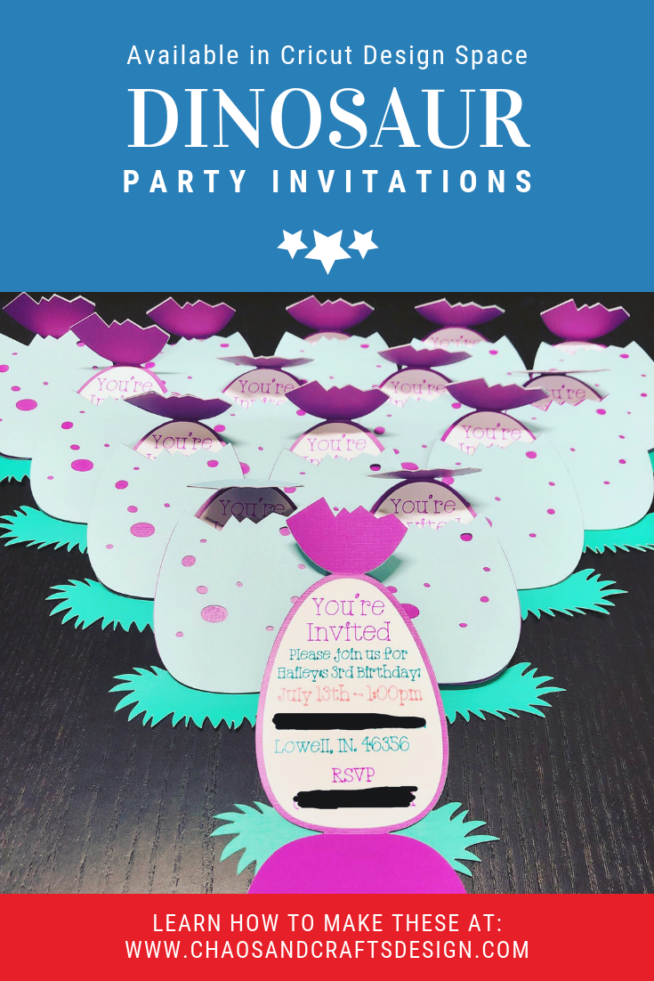Chaos and Crafts Design: Dinosaur Birthday Party Invitations