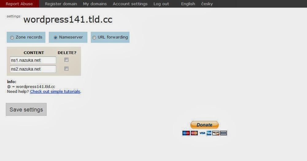 setup+dns+website+wordpress Tutorial membuat website dengan wordpress selfhosted Gratis