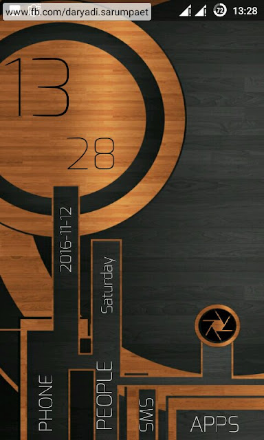 launcher lab android wood metal theme
